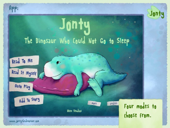 Jonty The Dinosaur Who Could Not Go to Sleep childrens story app