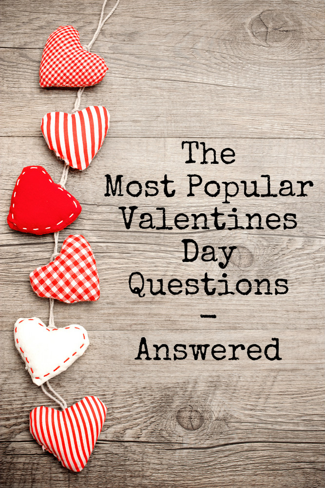 The most popular valentines day questions answered : Valentines day gift ideas, the history of Valentines day, the most popular traditions and more