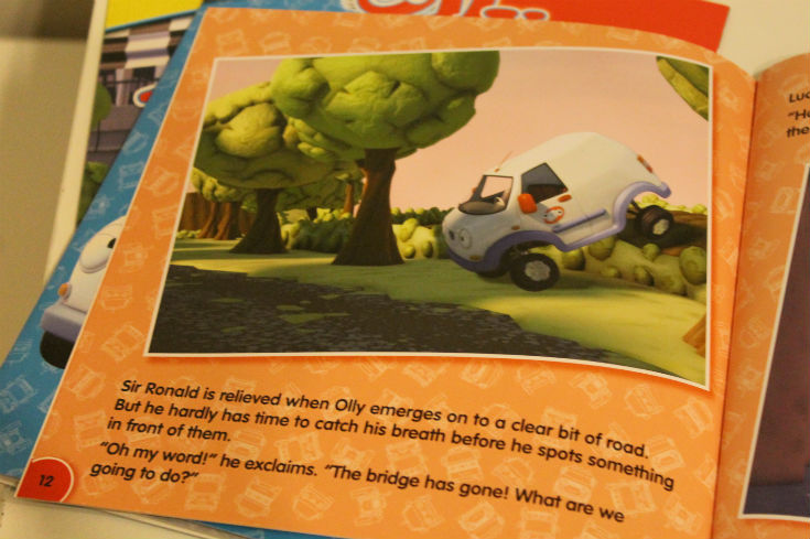 olly the little white van books - pages