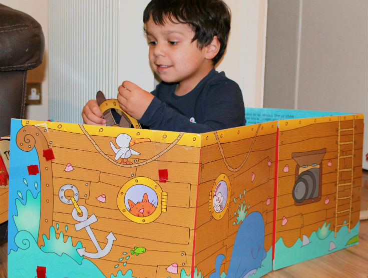 world book day pirate book that turns into a ship