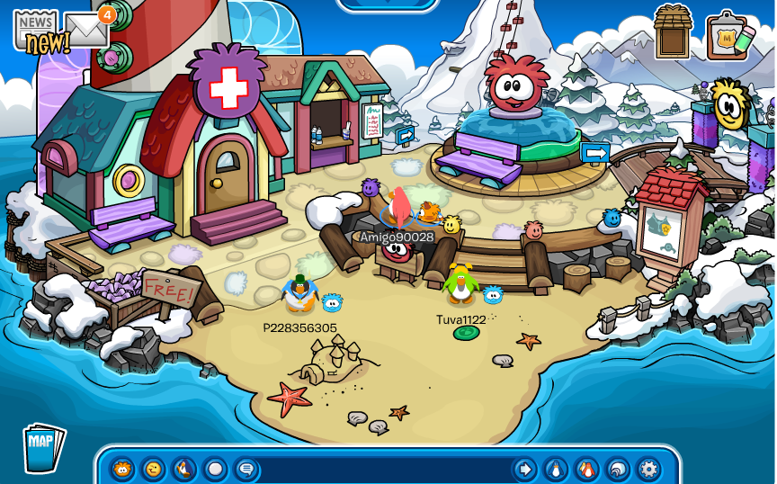 Club penguin beach