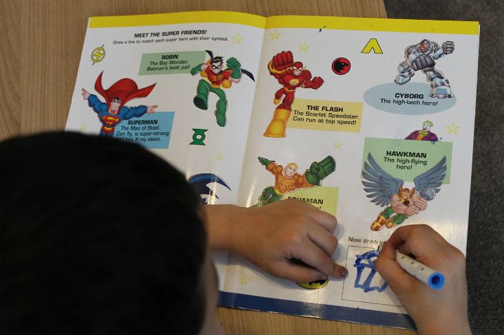 dc super friends activity book