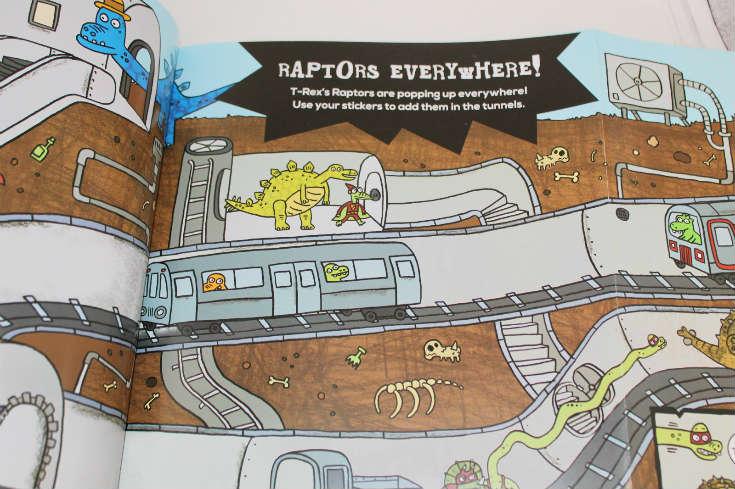 dino supersaurus sticker book