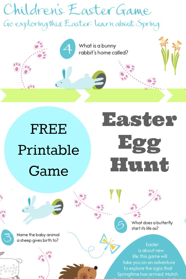 easter egg hunt clues printables