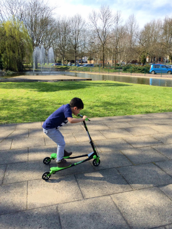 yvolution y fliker kids scooter air series age 5+