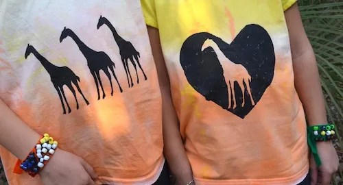 African sunset t-shirt and bracelets craft