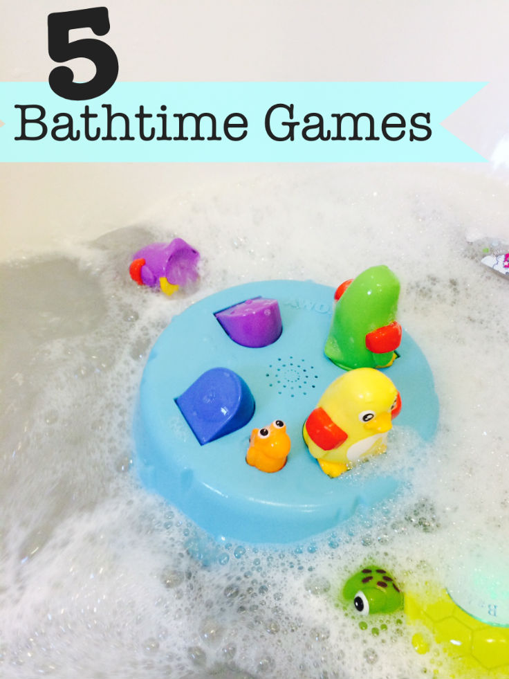 5 Fun Bath time games for little ones - #3 is my favourite!