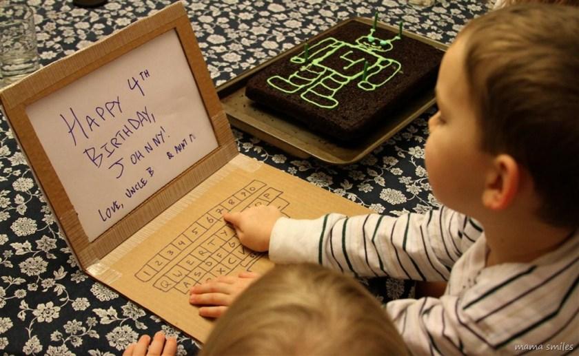 junk modelling kids craft idea - cardboard laptop by mamasmiles.com