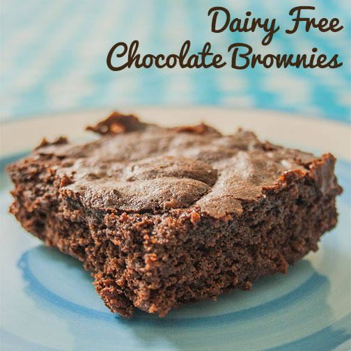 Dairy  Free Chocolate Brownies from The Super Mommy Club featured on Tuesday Tutorials