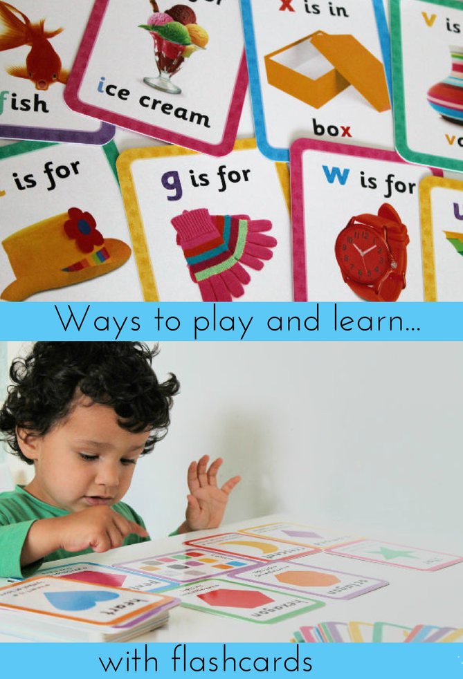 Ways to play and learn with flashcards - In The Playroom