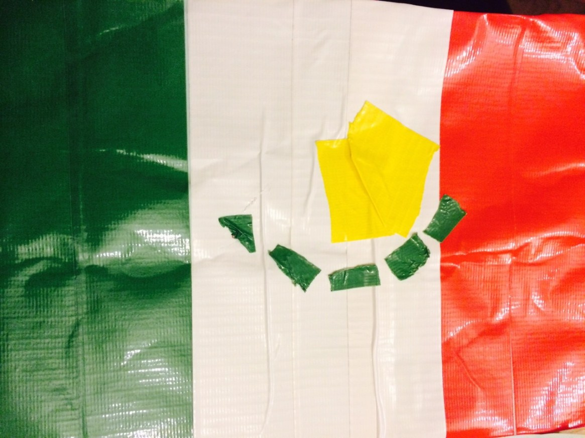 duck tape flag of mexico world cup craft