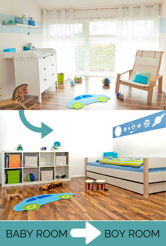 BABY'S ROOM TO BOY ROOM - What to do with the baby's room when he grows up?