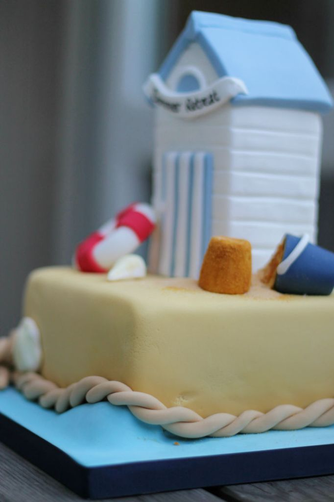 beach themed seaside cake