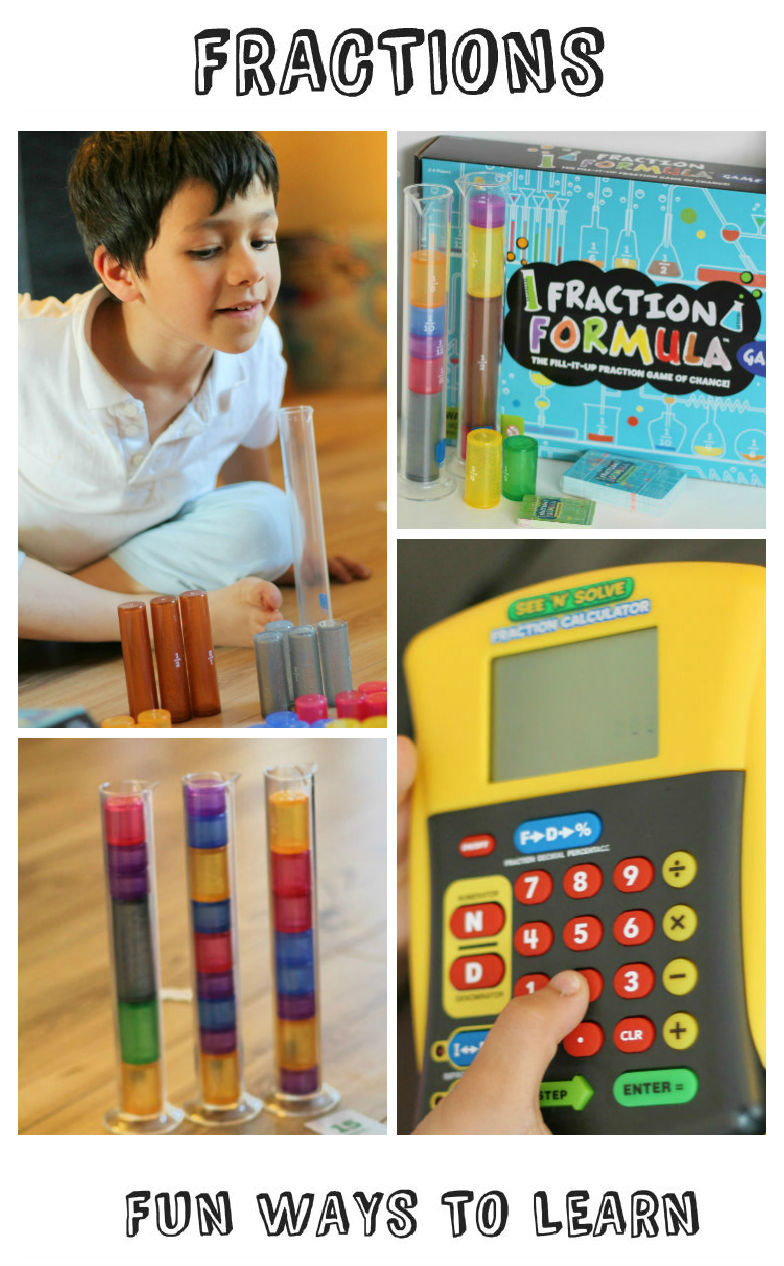 Fun ways to learn about fractions through playing the fraction formula game