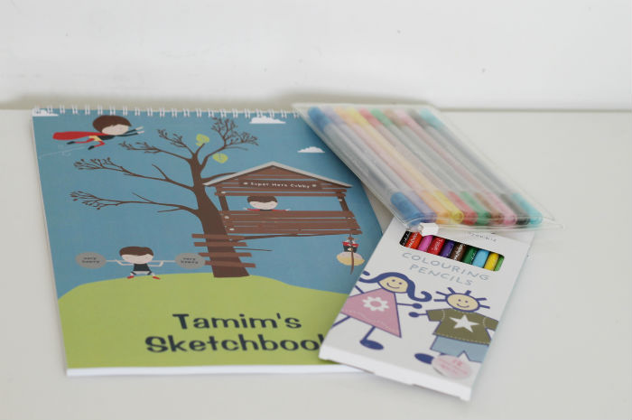 personalised budding artist kit from stuck on you