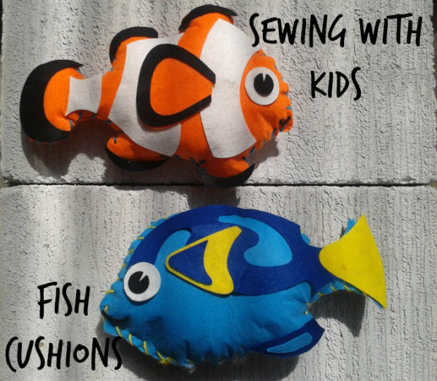 Sewing-with-Kids-Fish-Cushions