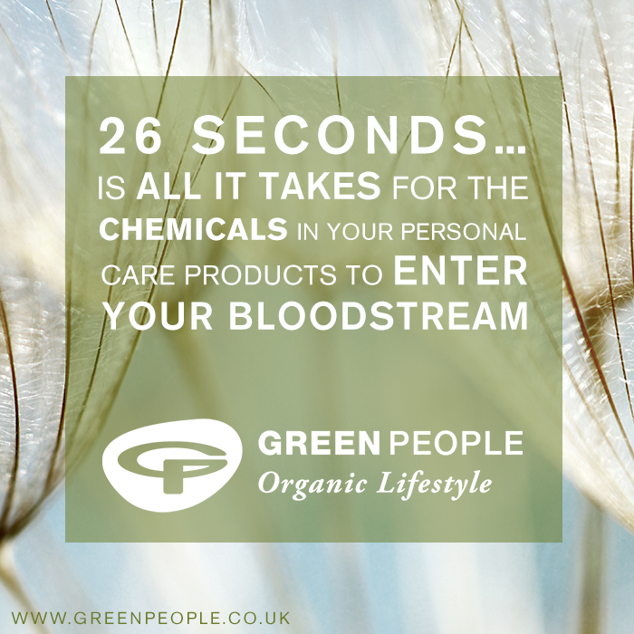 26 seconds is all it takes for the chemicals in your personal care products to enter your bloodstream