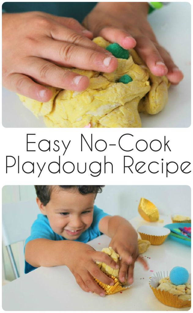 easy no cook playdough recipe with just flour and babyoil