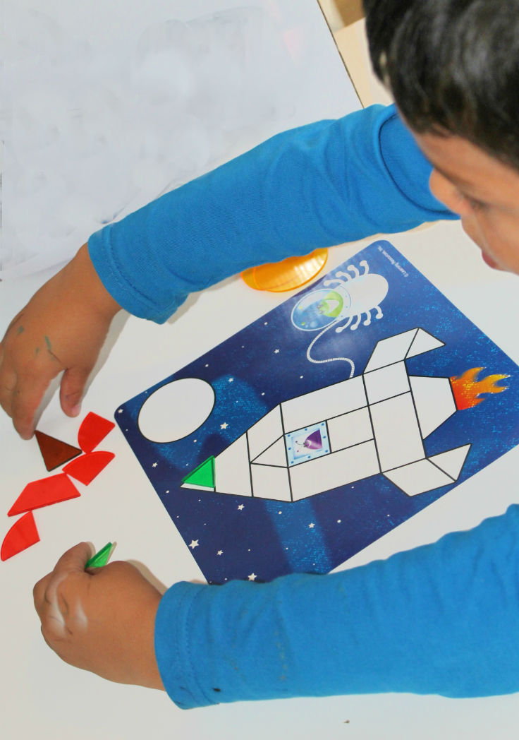 rocket gemeometric shapes activity