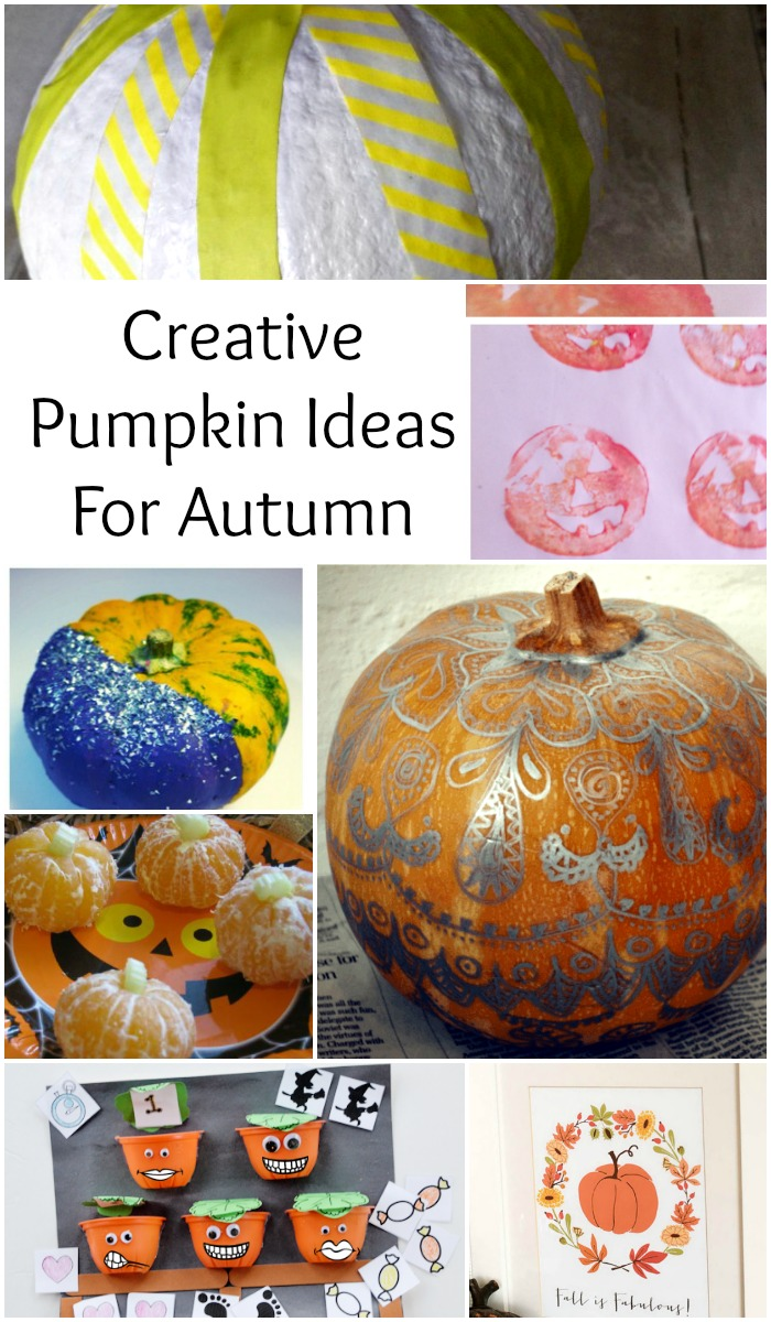Creative pumpkin ideas for Autumn fall Halloween times