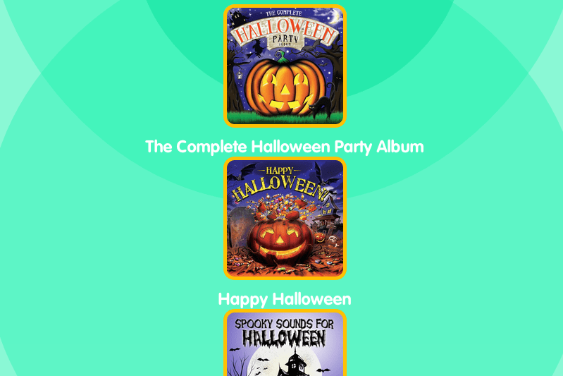 Halloween party playlist for kids