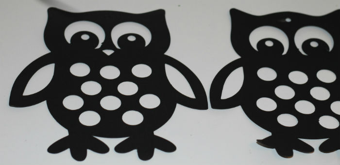 making an owl sun catcher