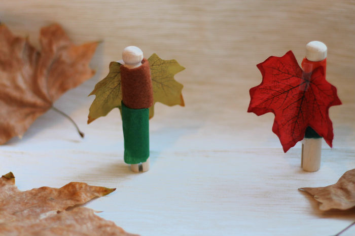 autumn leaf peg dolls craft