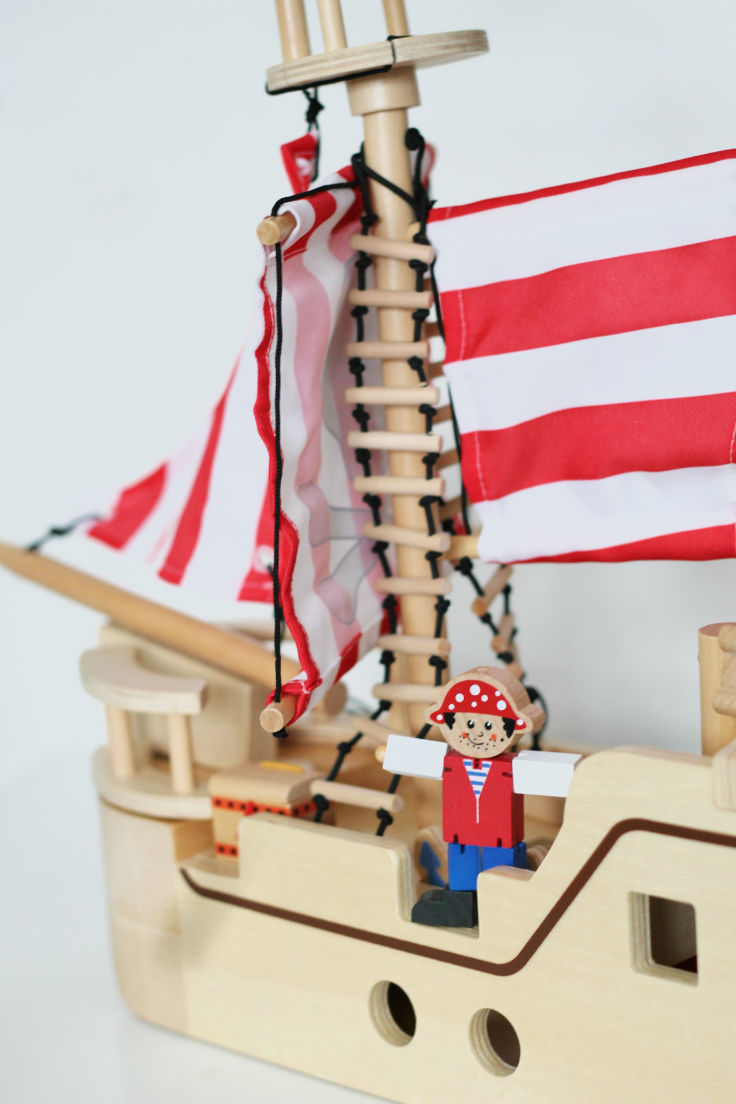 george wooden pirate ship toy