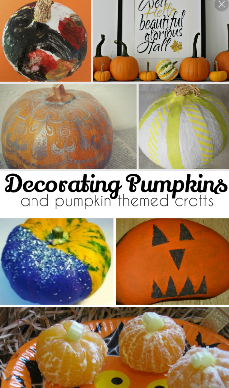 Fun ways to decorate pumpkins, and cute pumpkin themed crafts and activities - I love these creative ideas for Halloween!