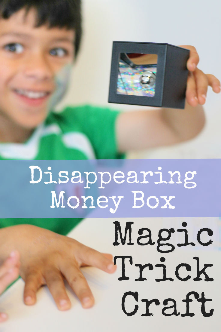 Disappearing money box magic trick science craft - makes a great DIY spy toy!