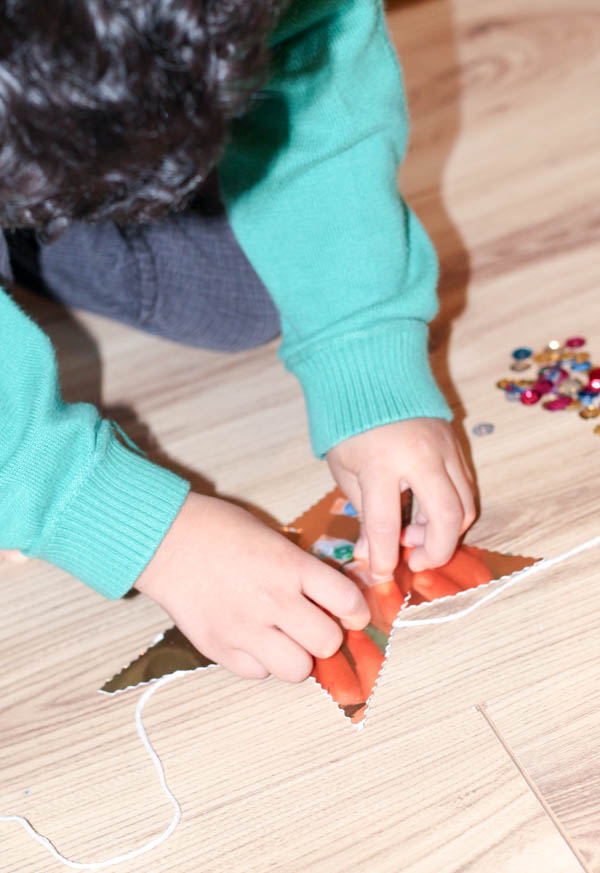 how to make a star garland step 6
