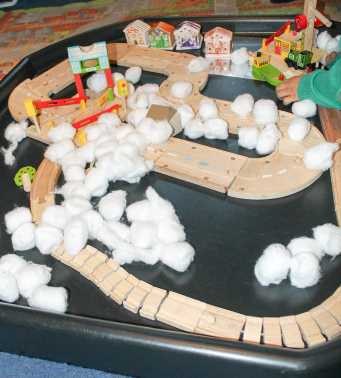 Winter Small World Wooden Train Play In The Playroom