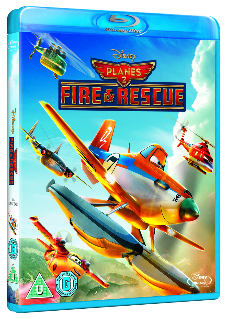 Disney Planes 2 Fire and Rescue Blu Ray cover