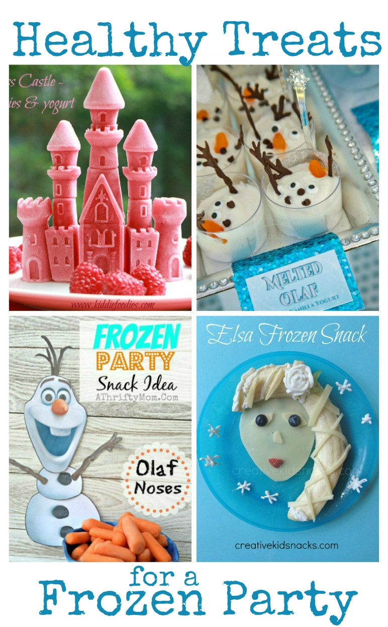Healthy treats and snacks for a Frozen Party.