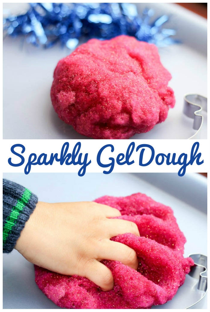 Simple playdough recipe sparkly gel dough in the playroom sparkly gel dough simple and squidgy playdough recipe for sensory play forumfinder Images