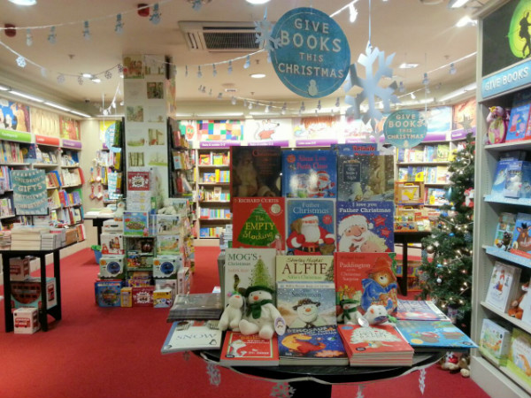 shopping for Waterstones Christmas books #ad