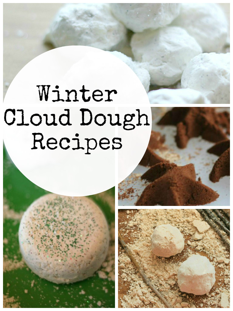 Easy and fun Winter cloud dough recipes