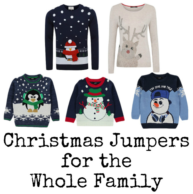 Christmas jumpers for the whole family