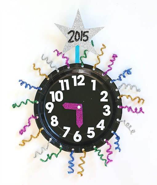 New Year Count Down Clock Craft from Buggy and Buddy