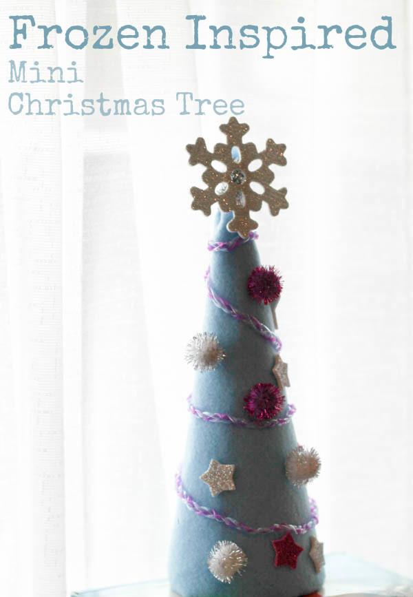 Easy to make Frozen inspired mini Christmas tree