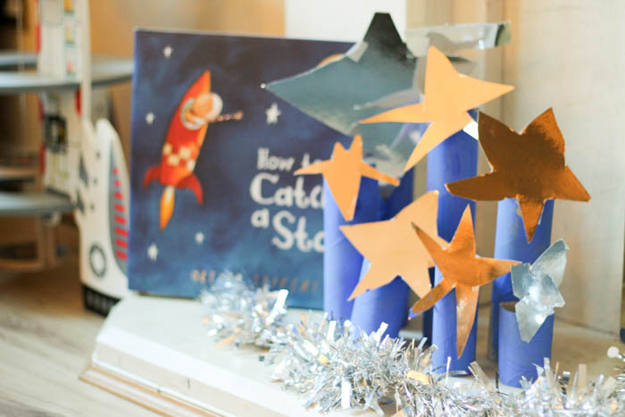 How to catch a star activities for kids - kid made Christmas display