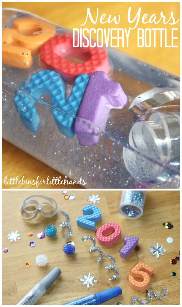 New Years Discovery Bottle by Little Bins for Little Hands