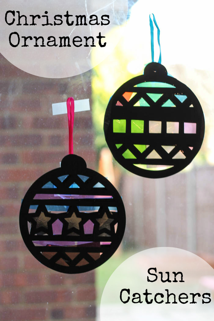 Christmas Ornament Sun Catchers In The Playroom