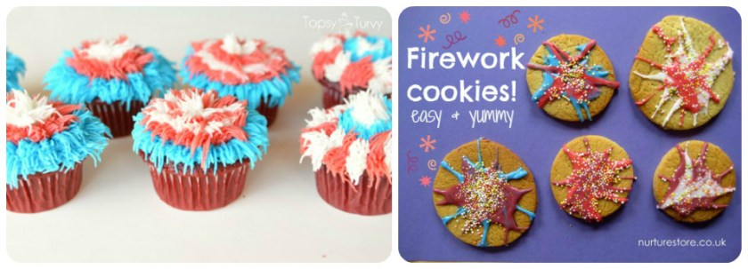 fireworks cakes and cookies for new years eve