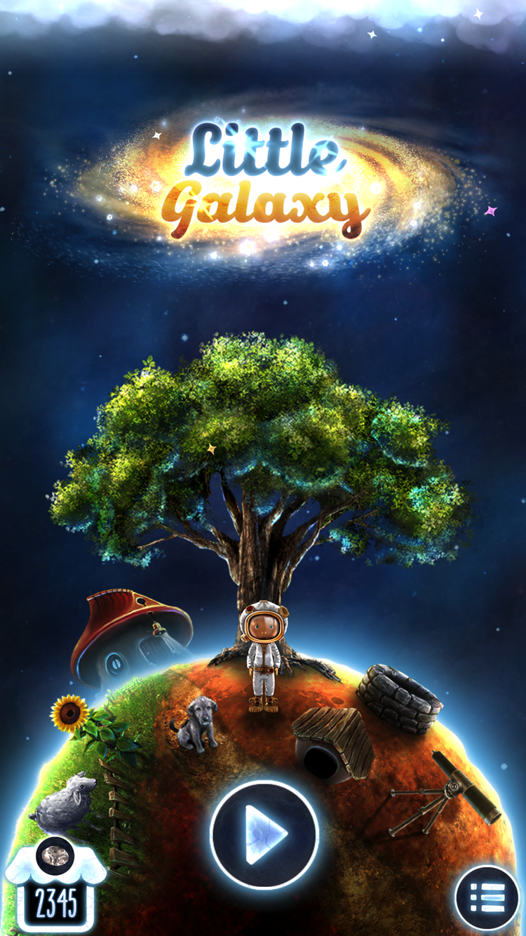 Little Galaxy free space themed app for kids