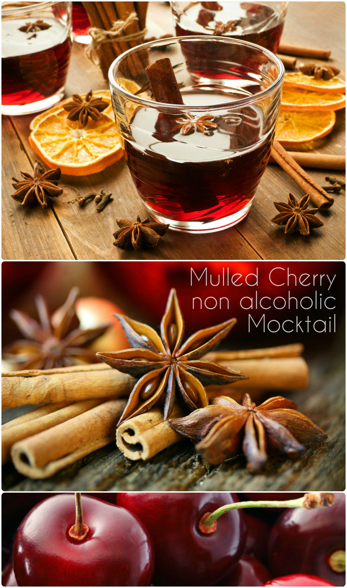 mulled cherry mocktail non alcoholic drink recipe