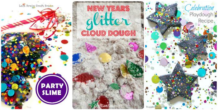 new years themed sensory play