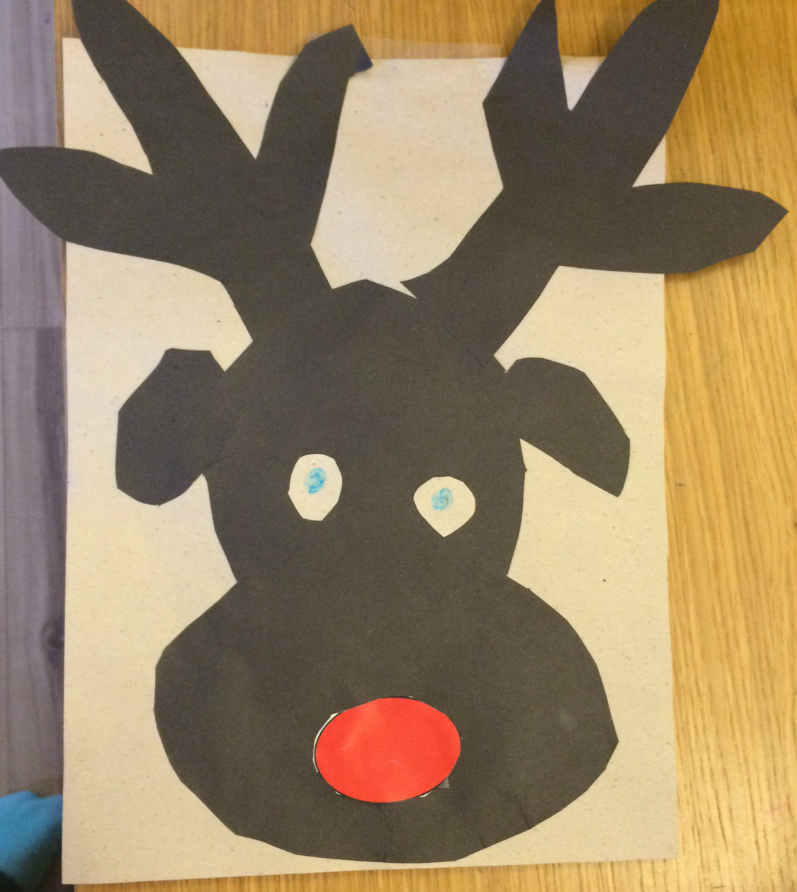 Pin The Nose On Rudolph Christmas Party Game In The Playroom