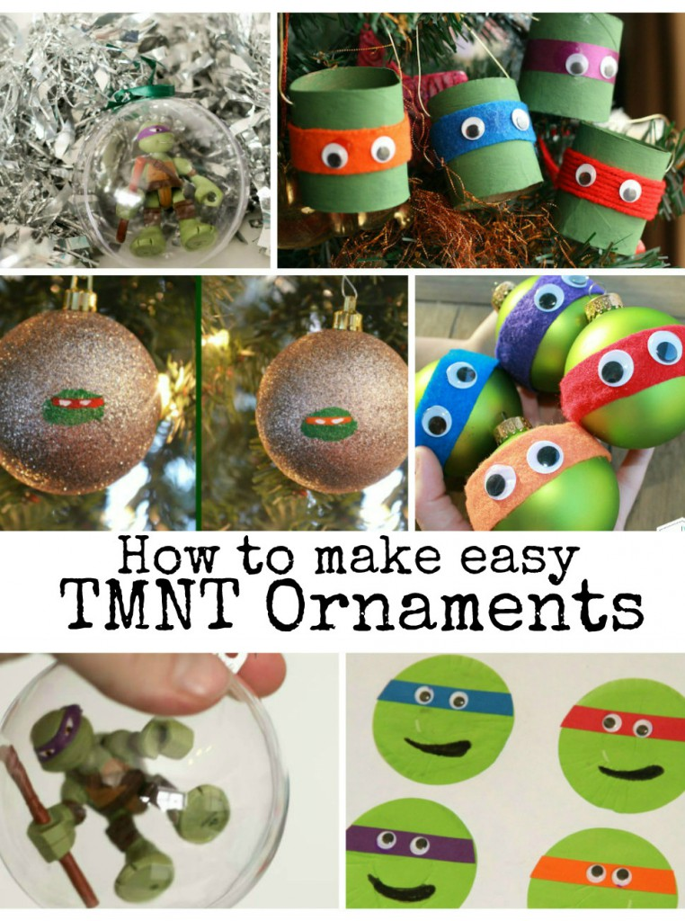 How to make cute TMNT Teenage ninja mutant turtle ornaments for Christmas