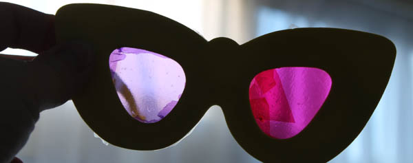 DIY rainbow vision glasses for kids